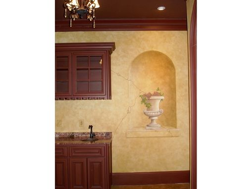 Custom Made Chateau Wine Cellar Trompe L'Oeil Mural With Faux Finish And 3d Items By Visionary Mural Co.