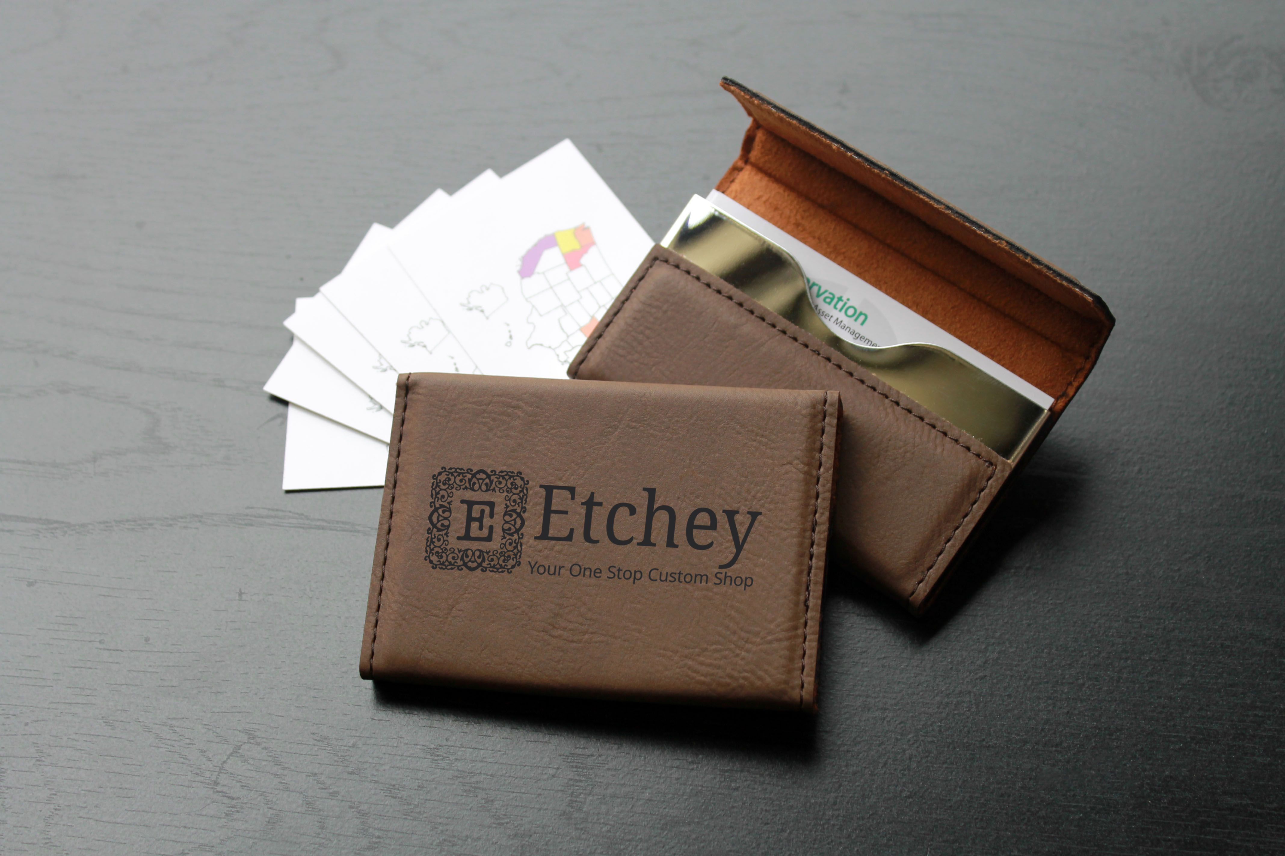 custom made custom business card holder bch db custom business logo - Custom Business Card Holder