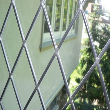 Custom Made Three-Lite Diamond Design In Leaded Glass
