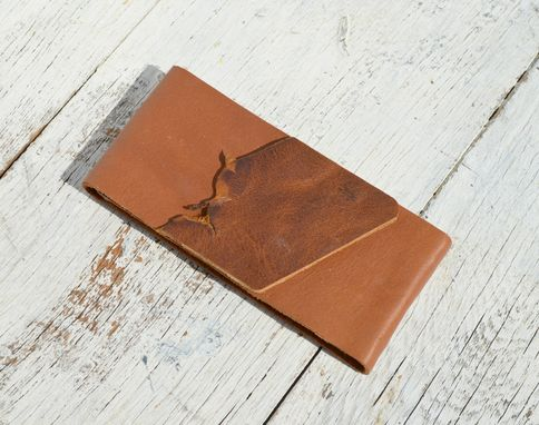 Custom Made Handmade Leather Bound Pocket Notebook & Farm Ledger