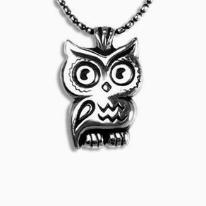 Owl necklaces owl pendants custommade sterling silver owl pendant mozeypictures Image collections