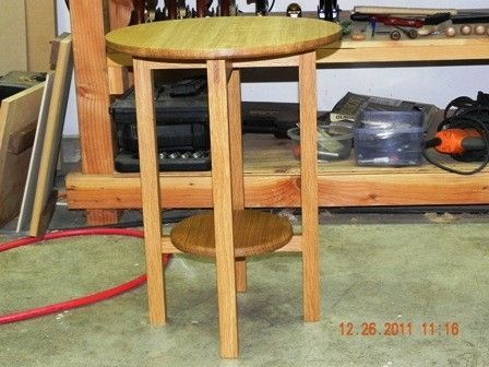 Custom Made Oak Side Table