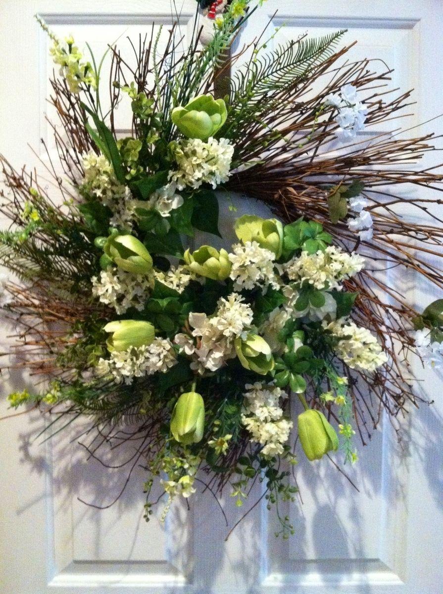 Hand Made Spring Summer Wreaths Floral Arrangement Wreaths