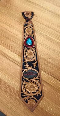 Custom Made Tooled Leather Necktie