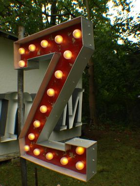 Custom Made Marquee Art Vintage Marquee Art Bulb Channel Any Letter Light Up Indoor
