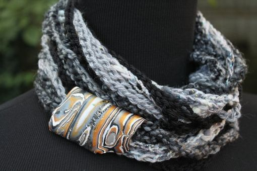 Custom Made Black Marble - Womens Scarf, Can Be Worn 3 Ways