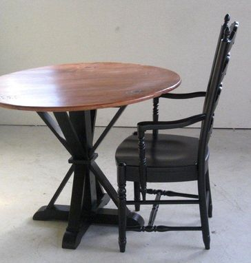 Custom Made Small Kitchen Table With Pedestal Base