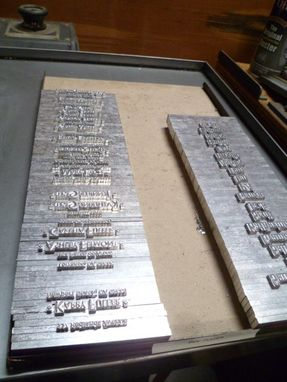 Custom Made Typecasting And Polymerplate For Letterpress