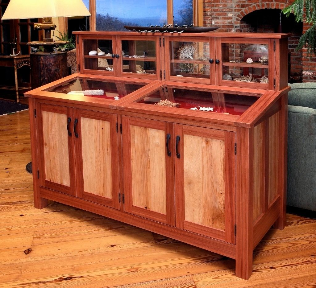 Hand Made Redwood Display Cabinet By Thomas Lutz Design