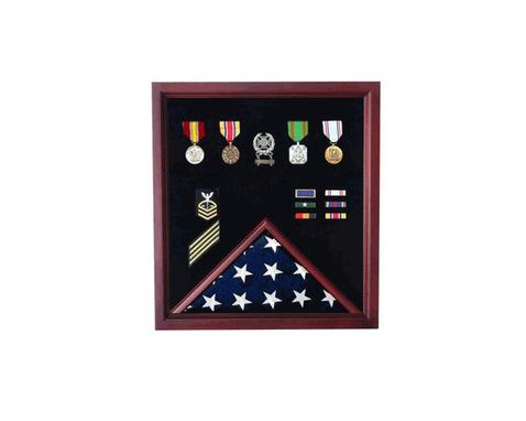 Custom Made Memorabilia / Flag Display Case - Memorabilia Shadow Box