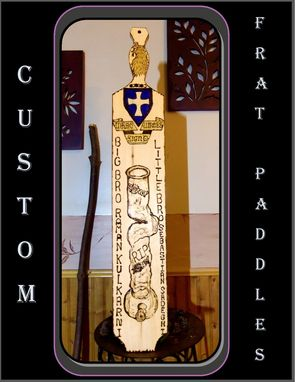 Custom Made Fraternity Crests,Fraternity Paddles, Custom Paddles, Frat Paddles, Custom Made To Order Any Design