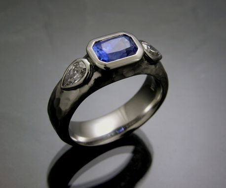 Custom Made Sapphire And Diamond Ring