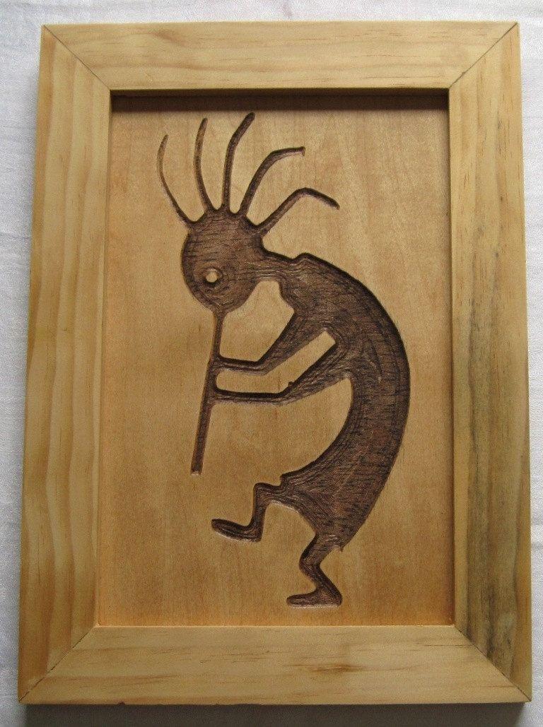 Custom Made Native American Art Kokopelli Symbol Handmade