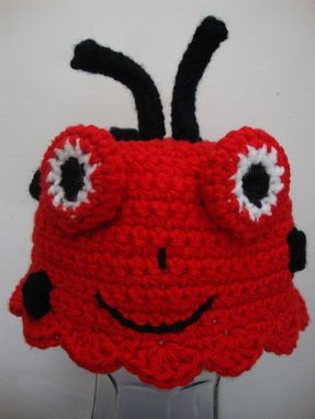Custom Made Lady Bug Hat And Mary Jane Booties