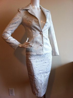 Custom Made Evening Women's 3pc Suit. Trio -  Blazer, Top, Pencil Skirt.