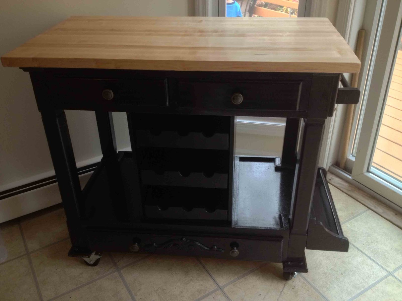 Custom Portable Kitchen Workstation By All Solid Wood
