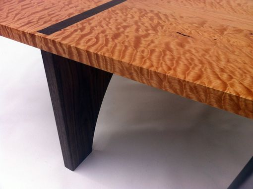 Custom Made Contemporary Quilted Maple Coffee Table