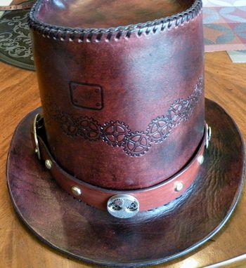 Custom Made Steampunk Styled Top Hat And Hatband