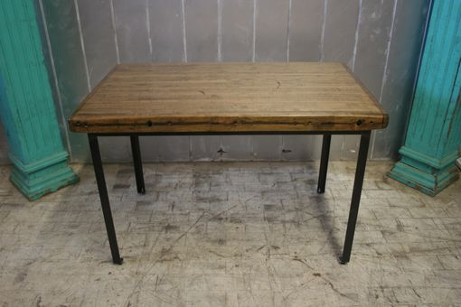 Custom Made Industrial Reclaimed Dining Table