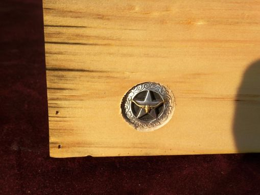 Custom Made Solid Wooden Box With Lone Star Inlay