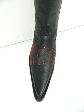 Custom Made 5 Inch Heels Men And Woman Sizes Cowboy Boots With Elongated Sharp Toe Made To Order