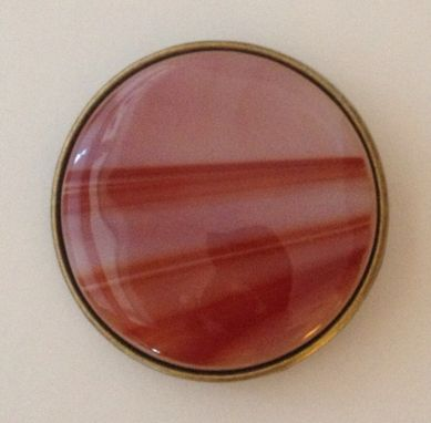 Custom Made Round Fused Glass Belt Buckle