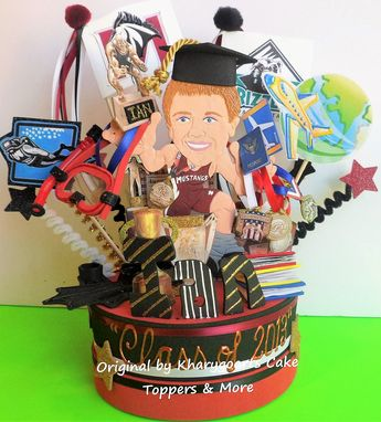 Custom Made Graduation Birthday Cake Topper For Men/ High Shool / College