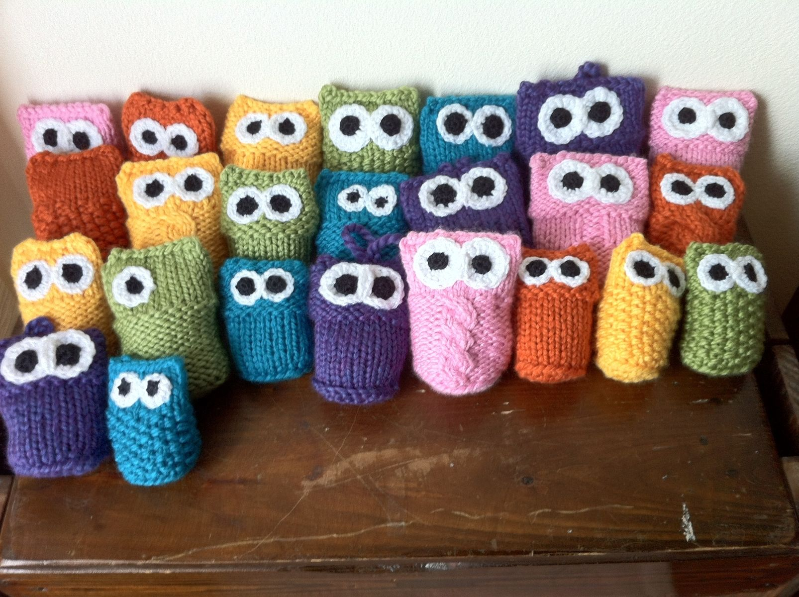 Hand Crafted Custom Owls Knitted Crocheted Crib Toys