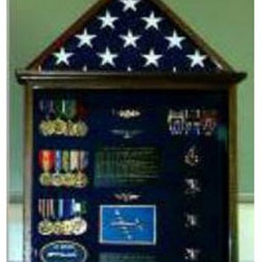 Custom Made Flag And Medal Display Cases, Flag And Badge Display Cases