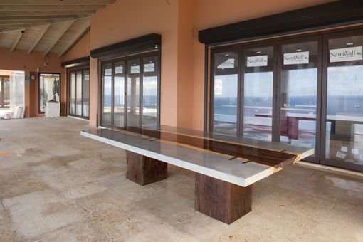 Custom Made Custom Concrete Live Slab Dining Or Conference Table
