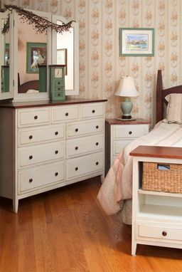 Custom Made Shaker Bedroom Queen Cherry 7pcs