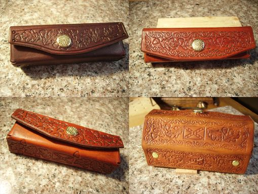 Custom Made Handcrafted Leather Harmonica Cases