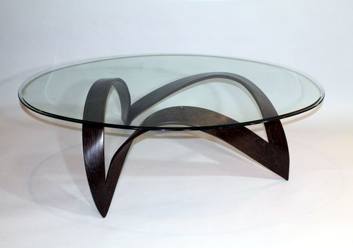 Custom Made Solid Wenge Sculptural Coffee Table