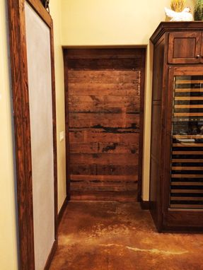 Custom Made Live Edge Pecan Sliding Barn Door