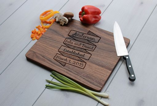 Custom Made Personalized Cutting Board, Engraved Cutting Board, Custom Wedding Gift – Cb-Wal-Anderson