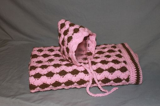 Custom Made Baby Girl Crocheted Baby Shower Gift Set