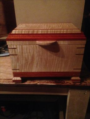 Custom Made Tiger Maple And Bloodwood Keepsake/Jewelry Box