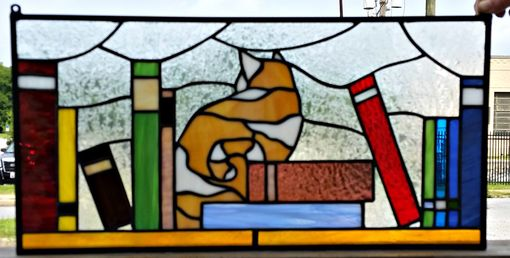 "Custom Made Retail Piece - ""Cat With Books"" (R-14)"