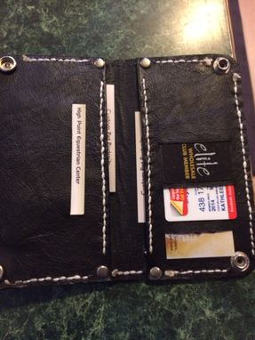 Custom Made Johnny Cash Leather Biker Wallet