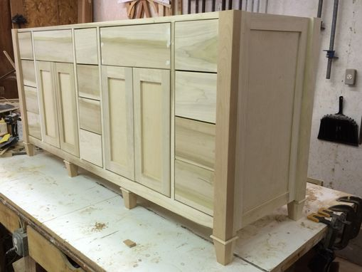 Custom Made Un Painted Bathroom Vanity