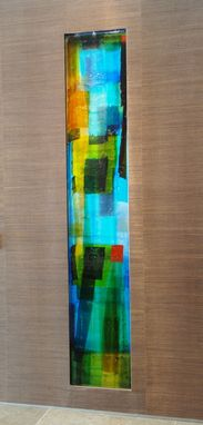 Custom Made Cast Glass Paintings
