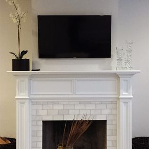 Modern Fresno Fireplace Wood Mantel