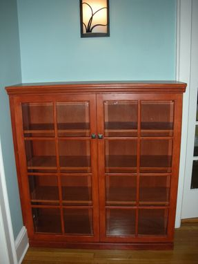 Custom Made Bookcases With Glass Doors
