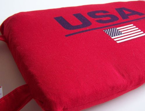 Custom Made Seat Cushion From Upcycled T Shirt Or Sweatshirt