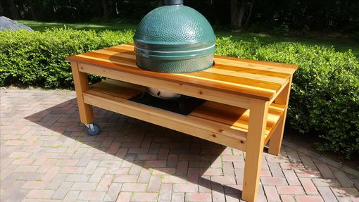 Custom Made Big Green Egg Grill Mobile Table