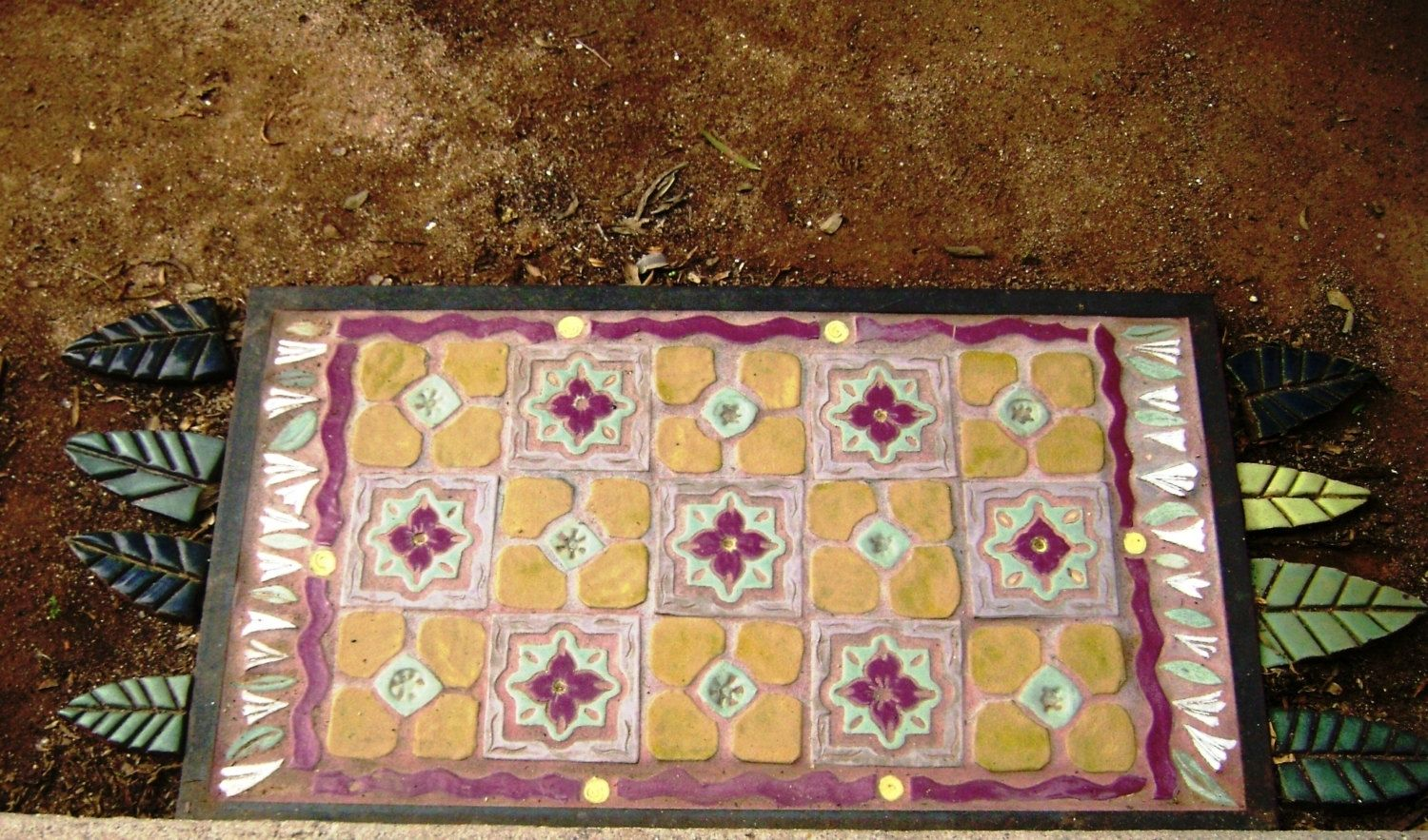 Hand Crafted Magic Carpet Tile Floor Rug Indoors Or Out, Made To ...