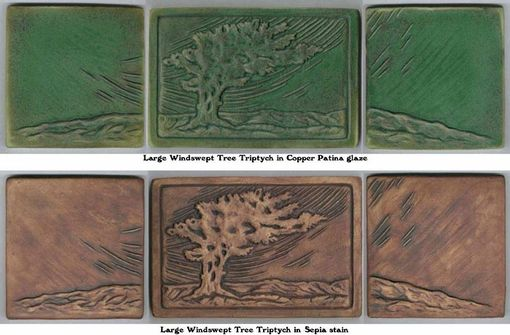 Custom Made Large Windswept Tree Tile Set