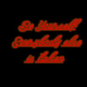 Custom made neon sign by forest leonard art custommade be yourself neon sign by ruben r solutioingenieria Choice Image