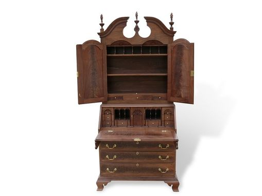 Custom Made Chippendale Bonnet Top Secretary