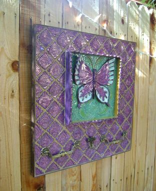 Custom Made Butterfly Large Wall Hanging With Vintage Drawer Pulls,Indoor/ Outdoor Art